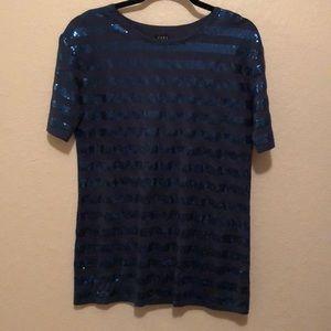 Zara long sequined T-shirt
